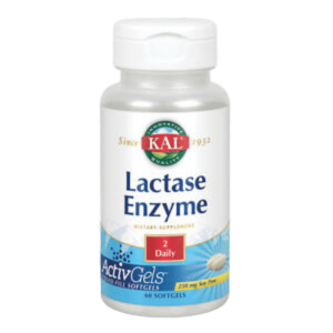 Lactase Enzyme 250mg (60 Softgels) – Kal