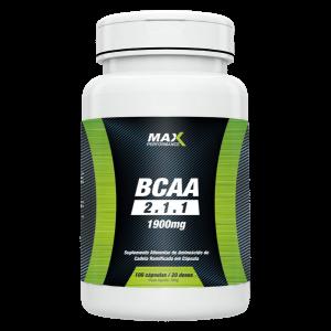 BCAA 2.1.1 1900mg (100 cápsulas) – Max Performance